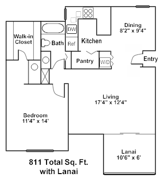 Bay Oaks Condo Unit Floor plan